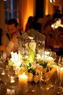 pretty garden wedding centerpiece