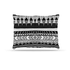 Kess InHouse Bruce Stanfield Verness in Grayscale White Black 30 x 20 Pillow Sham