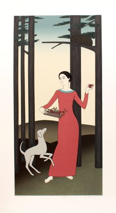 Artist: Will Barnet, American - Title: Persephone Year: 1982 Medium: Serigraph, signed and numbered in pencil Edition: 250 Image Size: 34 x inches Size: 40 in. cm x cm) Reference: Fig pg 70 from Will Barnet: Prints published by John Szoke National Gallery Of Art, Contemporary Artists, Modern Art, Ligne Claire, Barnet, Art Institute Of Chicago, Illustrations, Persephone, Print Artist