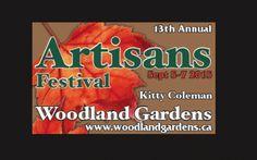 Sept 5-7 - 13th Annual Kitty Coleman Woodland Gardens Artisans Festival Woodland Garden, Creative Artwork, Artisan, Gardens, Kitty, Creative Art, Little Kitty, Kitten, Outdoor Gardens