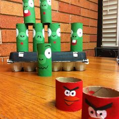 """Angry birds game, make the kids yell """"caw-caw"""" everytime they throw the red bird. :)"""