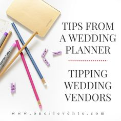 Tips From A Wedding Planner Tipping Vendors
