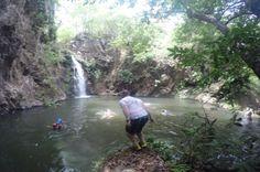 Cliff diving at La Gata Waterfall  on the Tenorio River  Guanacaste, Costa Rica #rafting #fun #cool