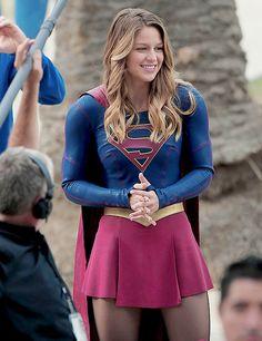 "melissabenoistsource: """"Melissa Benoist on the set of Supergirl, October 2015. (62 HQ photos) "" """