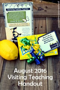 Aug. 2016 Visiting Teaching Handout - Pink Polka Dot Creations