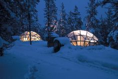 Glass Igloo Village (Hotel Kakslauttanen - Saariselkä, Finland)  www.kakslauttanen...