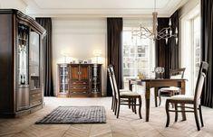 Krzesła do jadalni - piękne i wygodne modele - Galeria - Dobrzemieszkaj.pl Kitchen Dining, Oversized Mirror, Dining Chairs, Curtains, Furniture, Home Decor, Living Room, Blinds, Decoration Home