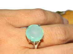 Anniversary Ring Statement Ring Chalcedony by JewelrybyDecember67