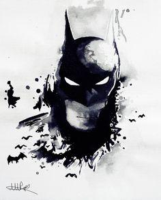 Batman Signed Watercolor Print  DC Comics by CoconuTacha on Etsy, £10.00