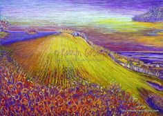 Fauvism | Fauvism Landscape Triptych Purple and Yellow_Robyn Gosby 2011 ...