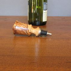 Wine bottle stopper wood stopper made from by TreeStreetTurnings, $22.50. This item has sold.