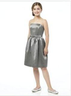 b2e716549 bridesmaid dress,bridesmaid dresses,bridesmaid dress,bridesmaid dresses  fuchsia zipper back satin strapless buckle junior bridesmaid dress