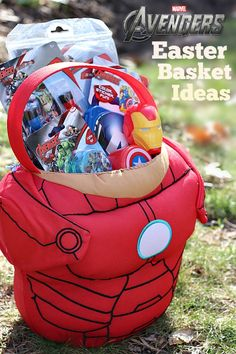 Do you have a little super hero in your home? Thrill them with these fun Avengers Easter Basket ideas! #ad