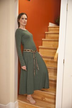 Boat Neck Dress, High Neck Dress, Hemp, Winter Fashion, Warm, The Originals, Natural, Modern, Beautiful
