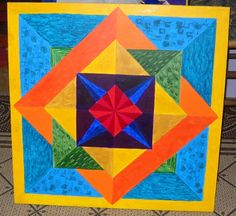 2 ' x 2' barn quilt hand painted by deb