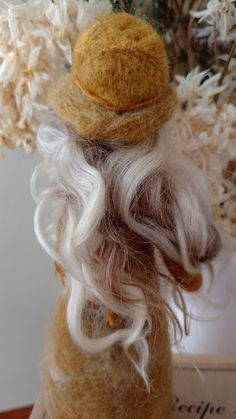 Young women value doll Waldorf inspired needle felt Virtue