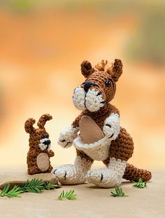 Ravelry: Giant Red Kangaroo and Joey pattern by Megan Kreiner