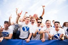 BYU Universe: Camp ROC: Hundreds of BYU Students camp out for football home opener Byu Sports, The Fosters, Haha, Champion, Universe, Social Media, Football, Roommate, Gifs