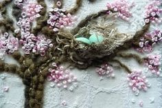 blossoms and nest