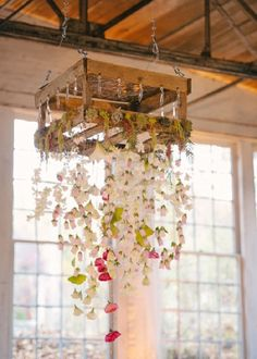 autumn rustic wood pallets wedding chandeliere