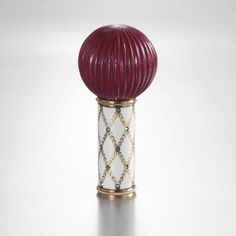 imperial faberge   Fabergé Imperial Purpurine, Gold and Enamel Parasol Handle ...
