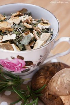 Longevity Tea Blend -This delicious tea concoction is flowery, earthy, and will help you fend off the dreaded colds that haunt us throughout the year.