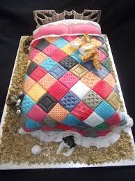Image result for patchwork quilt cake