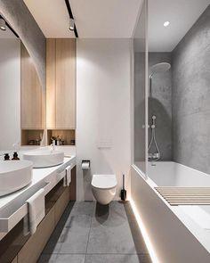 Bathroom Tub Shower, Bathroom Plans, Bathroom Inspo, Bathroom Ideas, Modern Bathroom Design, Bathroom Interior Design, Interior Ideas, Luxury Bedroom Design, Luxurious Bedrooms