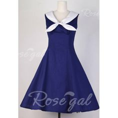 Vintage Sailor Collar Polka Dot Print Sleeveless Pleated Dress For Women