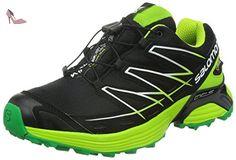 Salomon - Wings Flyte Gtx - , homme, multicolore (black/gr/fern green), taille 43.3333333333333 - Chaussures salomon (*Partner-Link)