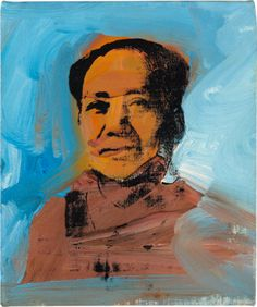 """From the Top Lots From Phillips De Pury's Contemporary Art Evening Sale: Lot 12 Andy Warhol """"Mao,"""" 1974"""