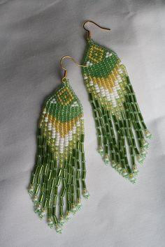 Native beaded earrings hand made in the Yukon, Canada.