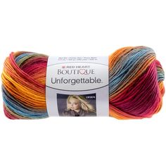Red Heart Boutique Unforgettable Self Striping Yarn in Sunrise