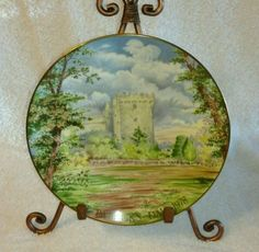1978-Staffordshire-Bone-China-Castle-of-the-Blarney-Stone-Collector-Plate-7-1-2
