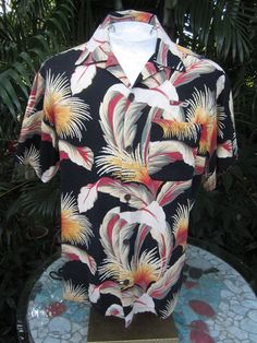 f49a0912 Uniform shirt from Loews Royal Pacific Resort at Universal Orlando,  Florida. Great style in Bark cloth cotton fabric Condition: Good used  condition with no ...