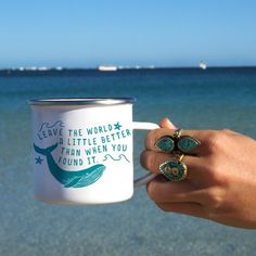 Whale Mug Camp Mug Camping Mug Save The Whales Enamel Mug Leave The World A Little Better Ocean Mug Ocean Conservation Marine Conservation Save Mother Earth, Save Our Earth, Save The Planet, Shark Conservation, Energy Conservation, Camping In Texas, Save The Whales, Mug Design, Save Our Oceans