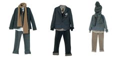 How cute is that middle outfit? I need a little boy to dress like a tiny business man.