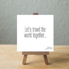 Let's travel the world together.