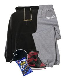 """MOOD: don't talk to me"" by blacklegends on Polyvore featuring adidas Originals, Versace and NIKE"