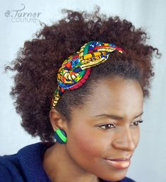 Multicolored Sailors Knot Headband African Hair by ETurnerCouture African Hair Wrap, African Girl, African Accessories, African Jewelry, Multicolored Hair, Fabric Headbands, African Print Fashion, Knot Headband, African Attire