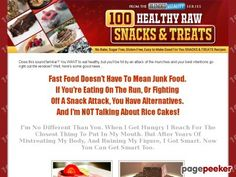 awesome 100 Healthy Raw Snacks And Treats - Healthy snacks that taste great. Natural - Sugar Free - No Cook - Living Nutrition for Living Bodies.