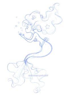 Disney: Mermaid: Disney Sketch: Disney Princesses: Ariel: The Little Mermaid: bubbles by briannacherrygarcia.deviantart.com on @deviantART