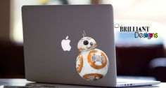 BB8 Color Decal      This die cut vinyl decal is for the Macbook Pro, Macbook Air or Macbook with Retina display. Actually you can put it on anything if you want This die cut vinyl decal will give your laptop a touch of individuality and make your device unique, while still showing off the lines and finish of your Macbook.     This vinyl decal is for the Macbook Pro, Macbook Air or Macbook with Retina display, Actually you can put it on anything if you want.       This high Quality vinyl…