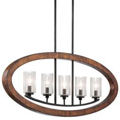 Buy the Kichler Auburn Direct. Shop for the Kichler Auburn Grand Bank Single-Tier Linear Chandelier with 5 Lights - Stem Included - 36 Inches Wide and save. Linear Chandelier, Chandelier Ceiling Lights, Rustic Chandelier, Pendant Lighting, Chandeliers, Light Pendant, House Lighting, Foyer Lighting, Candle Chandelier