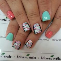 Easy Unique Nail Designs new nail designs 2014 ~ Pretty Nail . Nail Designs 2014, Best Nail Art Designs, Toe Nail Designs, Nails Design, Pedicure Design, Get Nails, How To Do Nails, Botanic Nails, Nail Art Images
