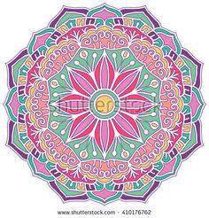 Mandala. Vector Ethnic Oriental Circle Ornament.