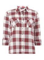 Burgundy Large Gingham Checked Shirt
