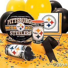Nfl pittsburgh steelers party supplies party city dads 60th nfl pittsburgh steelers party supplies filmwisefo Gallery