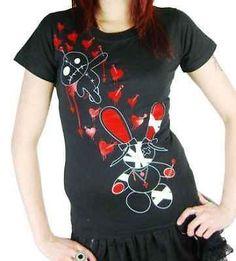 Luv Bunny T Shirt Gothic x Tra x Wgt GR M L | eBay