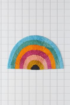 Bath Mat, Apartment Essentials, Shape Design, Rainbow, Outdoor Blanket, New Homes, Shapes, Texture, Urban Outfitters